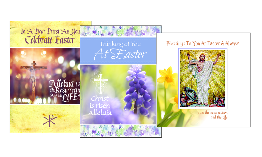 religious easter cards for priests