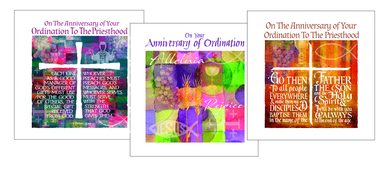 anniversary ordination cards symbolic