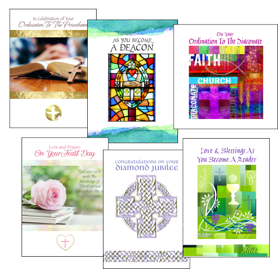priest birthday cards and ordination cards